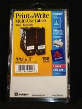 NEW Case of 2,700 Avery 05440 5440 White Removable Print Write Multi Use Labels