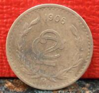 Very Nice First Year 1906 Mexico 2 Centavos KM# 419 with alot of Detail