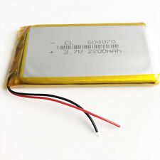 3.7V 2200mAh 604070 Lipo Polymer Battery Li ion cells For DVD mobile phone PAD