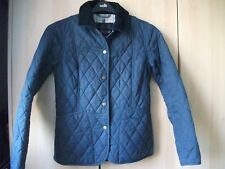 Ladies Barbour blue quilted jacket size 8 in a VGC