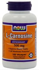Now Foods L-Carnosine 500mg, 100 vcaps FAST 1 St Class SHIPPING