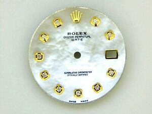 Rolex Date Nonquick 34mm White MOP Mother of Pearl1501/503 Dial 2Tone