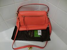 Kate Spade Bright Papaya COBBLE HILL TODDY Bag Large NEW R$378.00 Dust Bag