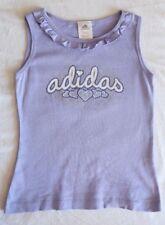 Adidas Shirt ~ Girls 6 ~ Hearts Sparkle Glitter Ruffle Tank Singlet ~ MBC