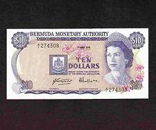 Bermuda 10 Dollars 1978 P-30a * XF-AU * Queen Elizabeth *