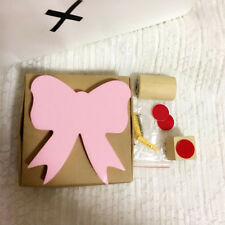 Pink Bow Shape Hook Wall Hangers Rack Organizer Kids Room Hanging Decor T Gift