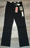 LEVI'S Women's 512 Perfectly Slimming Boot Cut Jeans Black  Short, Med & Long