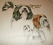 "Bearded Collie Sweatshirt "" Ash "" Large ( 42 - 44 )"