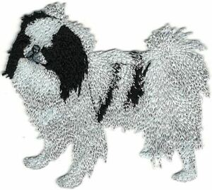 Black Japanese Chin Dog Breed Embroidery Patch