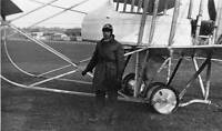 Early Aviation Mr W Birchenough With The Farman Aeroplane 6x4 PHOTO