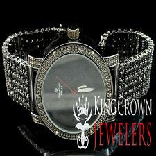 Iced Mens Lab Diamond Black Gold Finish Diamond Maxx Techno KC Joe Rodeo Watch