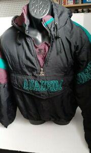 Vintage 90s Anaheim Mighty Ducks Pullover Parka Jacket Starter Size XL