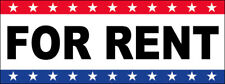 For Rent Vinyl Banner Sign New 2x4 ft - stars wb