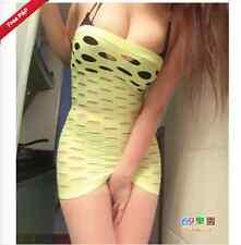 UK Sexy Babydoll Lingerie Mini Bodystocking Dress Fishnet Chemise Teddies 6-12
