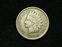 NEW INVENTORY!! XF 1898 INDIAN HEAD CENT PENNY w/ DIAMONDS & FULL LIBERTY #176s