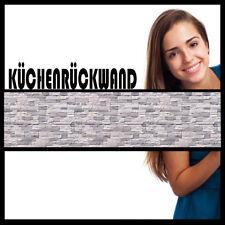 Küchenrückwand | STEINWAND 390 CM x 55 CM  | Hart-PVC 0,4 mm selbstklebend