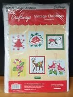 Vintage Christmas Plastic Canvas Ornament Kit - Craftways Christmas Ornament Kit