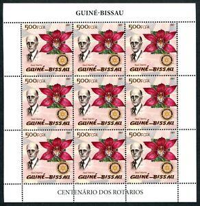 MTC1771 Guinea Bissau 2005 MNH Sheet Rotary Paul Harris Flowers