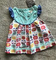 NEW Matilda Jane Top, Friends Forever Lucia Shabby, Girls 2 2T, Apple Fall NWT