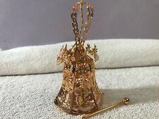 Christmas ornament brass Danbury mint 1996 Decorated bell