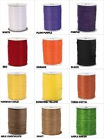 "HALLOWEEN Colors PAPER RAFFIA 1/4"" Ribbon Choose Color & 10 Or 100 Yards"