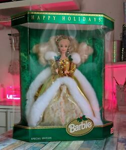 1994 Happy Holidays Barbie Special Edition NRFB - In Box, Vintage, USA Import