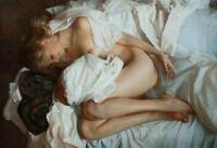 CHOP1355 handmade girl nudes sleeping portrait oil painting art on canvas
