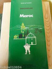 GUIDE  DE TOURISME   MICHELIN MAROC 1988