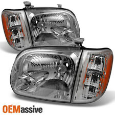 Fits 2005 06 Toyota Tundra Double | Crew Cab Headlights with Corner Lights Pair