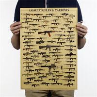 weltberühmte Waffe Daquan Wandaufkleber Militärfans Poster Nostalgie Kraft PiBLY