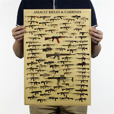 world famous gun daquan wall sticker military fans poster nostalgia kraft paperS