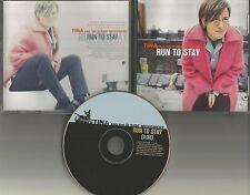 TINA AND THE B SIDE MOVEMENT Run to Stay PROMO Radio DJ CD single 1996 MINT USA