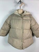 GIRLS ZARA BABY BEIGE STAR PADDED WINTER PUFFER JACKET COAT KIDS AGE 18/24 MONTH