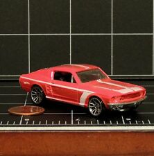 Hot Wheels 1968 red striped Mustang fastback hardtop loose toy car die-cast