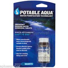 250 Potable Aqua Emergency Military Water Iodine Purification Pills Tablets