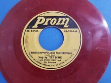 """1953 Toby Deane I Want A Hippopotamus For Christmas 7"""" 45 rpm Record Tested"""
