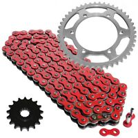 Red Drive Chain And Sprocket Kit for Yamaha FZR1000 1989-1995