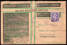 202 GB UK TO CHILE OFFICIAL FIELDPOST COVER 1950 FPO 791 (GERMANY) - SANTIAGO