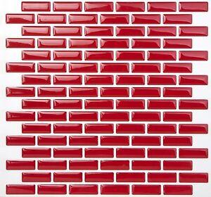 Tic Tac Tiles 3D Peel and Stick Wall Tile Brick Rose (25cm x 23.5cm x 5 sheets)