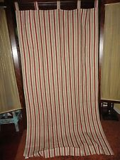 WAVERLY GENERAL STORE STRIPE RED CREAM (1) TAB TOP PANEL 100% COTTON 42 X 80 + 4