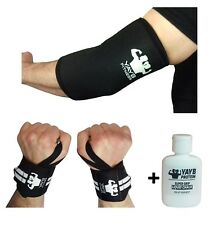 YAYB Fitness Pro Strong Elbow Sleeves 7mm+Extra Heavy Wrist supports-BUNDLE