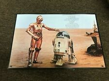 """The Story of Star Wars Cardstock Promo Poster R2D2 C3PO 12""""x18"""""""