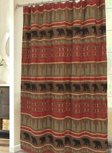 Bear Country Shower Curtain - Rustic/Lodge - Bears & Bucks - Free Shipping