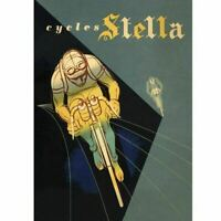 Cycles Stella Cycling Poster Vintage Bicycling Art Poster