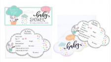 Baby Shower Prediction Game, Guess the Weight/Date for Boy, Girl - Pack of 12