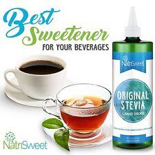 Natural Stevia Liquid Drops Concentrated Stevia Extract Sugar Substitute (8 Oz)