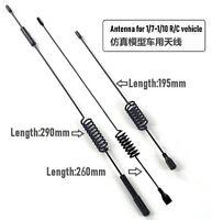 1:7- 1:10 RC Metal Antenna w/Flag For 4WD Cars Crawler Climbing TRX-4 SCX10 II