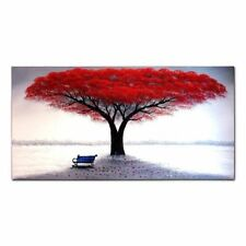 CHENPAT130 modern abstract red tree art oil painting 100% hand-painted on canvas