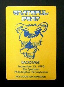 Grateful Dead Backstage Pass The Spectrum, Philadelphia, PA  9/13/93