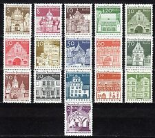 Germany / Berlin - 1966 Definitives buildings / Architecture - Mi. 270-85 MNH